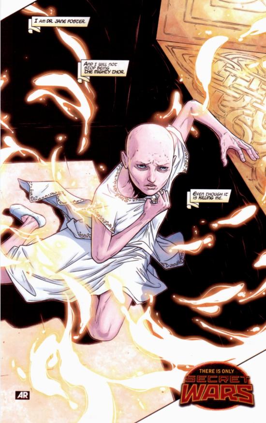 简-福斯特在漫画中身患癌症