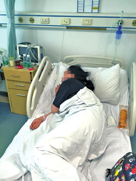 伤员孙女士在省医院接受治疗。