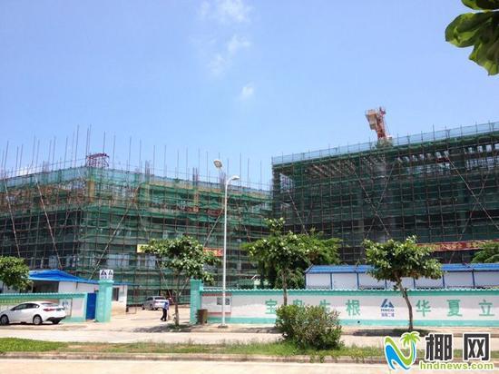 正在建设中的港湾小学