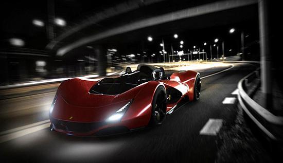 这辆车是来自于法拉利的概念跑车,是法拉利举办的世界设计高清图片