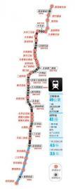 成都地铁5号线站点示意图 制图杨仕成