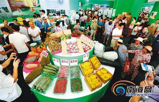 五月二十二日,农博会展馆正式开放,吸引了省内外上万人前来参观、购物、洽谈。本报记者陈元才通讯员邓积钊摄
