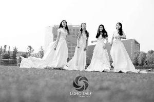 南大女生穿婚纱拍毕业照 通讯员供图