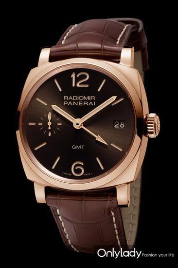 Radiomir 1940 3日动力储存辆的士红金腕表