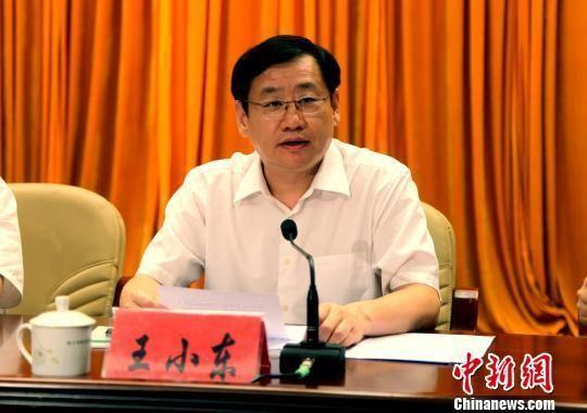5月26日下午,中共南宁市委召开全市领导干部大会,新任中共南宁市委书记王小东在会上发言。 黄艳梅 摄