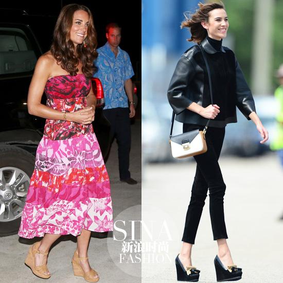 左:Kate Middleton  右:Alexa Chung