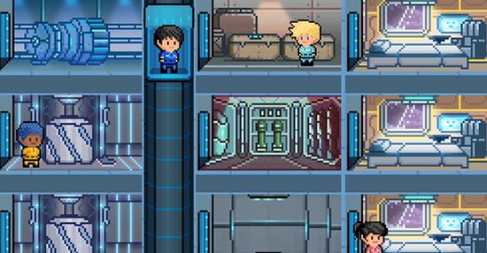 2D版星际公民 8位像素风沙盒网游《星际战舰》公布