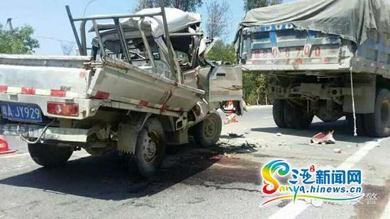 事故现场照片。(省交警总队提供)