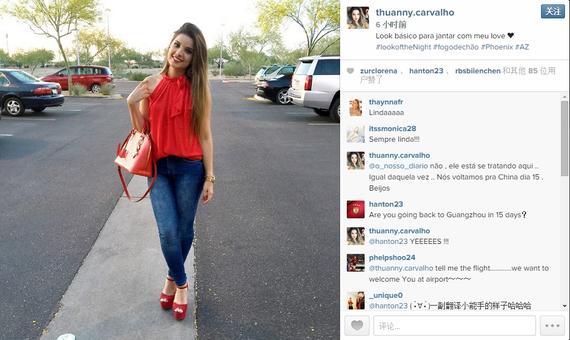 阿兰妻子Instagram页面