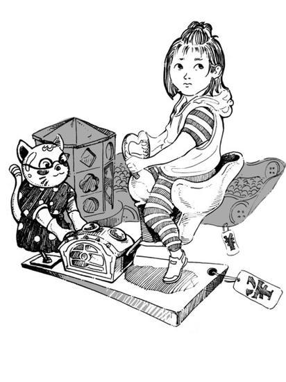 儿童跷跷板简笔画