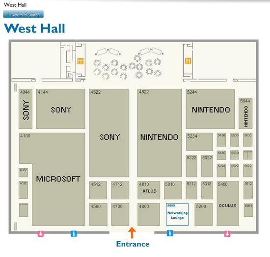 E3 2015展位布局图公布