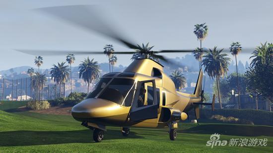 金色直升机