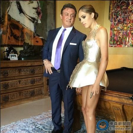 史泰龙与女儿合照