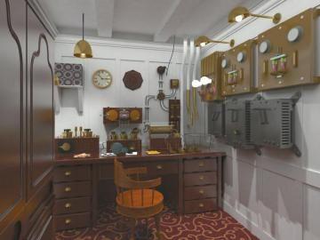 内设发报室。