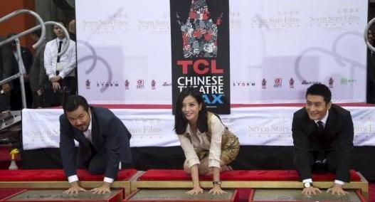 赵薇黄晓明在中国大剧院留下手印