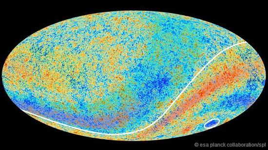 宇宙微波背景辐射(CMB)。这是宇宙大爆炸的余晖