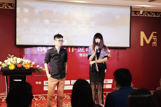 一海文化董事长王一涵小姐现场对Next Queen进行介绍
