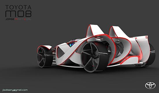 超现实概念:TOYOTA MOB概念跑车