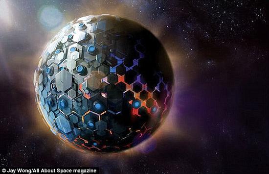 """""""戴森球""""理论。该理论设想,一种先进的外星物种可以充分利用整个恒星的能量。但是,如果这样一种结构存在,理论上我们能够探测到它的红外信号。但相关研究没有发现其存在证据。"""