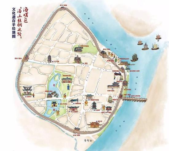 宁波首份海上丝绸之路手绘地图出炉 标识20多处遗迹(图)