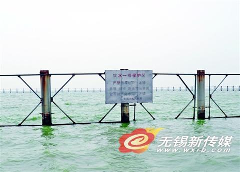 太湖取水口湖水清清。