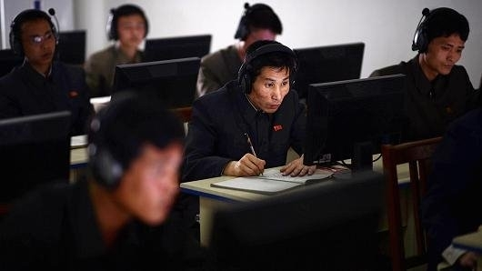 图为由黑客组成的朝鲜网络作战部队