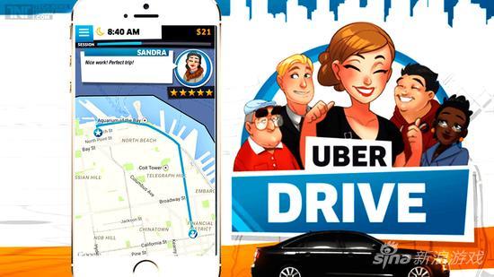 跨界!打车应用Uber推出手游《Uber Drive》