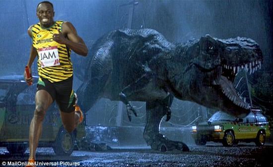 尤赛恩·博尔特跑得比霸王龙还快