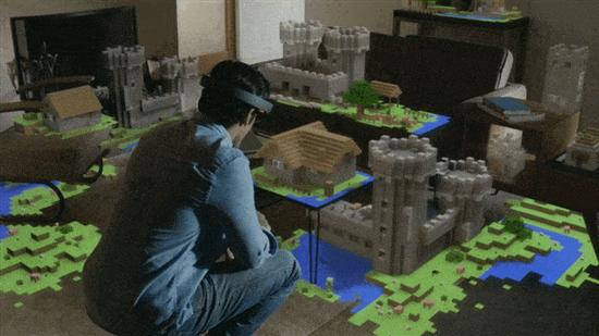 微軟演示HoloLens版Minecraft:徒手築虛擬世界