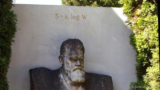 玻尔兹曼的墓志铭是他发现的关于熵的数学方程