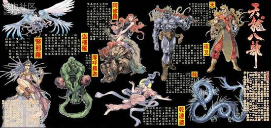 神,是佛教八类护法天神-金庸武侠 天龙八部 书名源自佛教