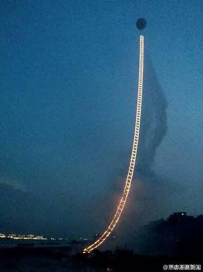 火药炸出500米天梯