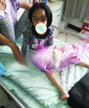 孩子仍在医院治疗 图片来自网络