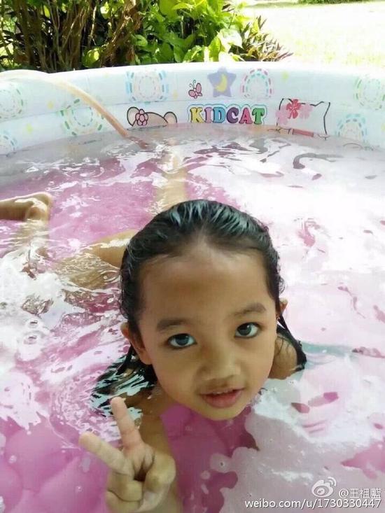 王祖蓝戏称为女儿