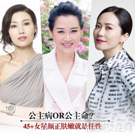 """许晴领衔 40+依然不老的""""公主命""""女星"""