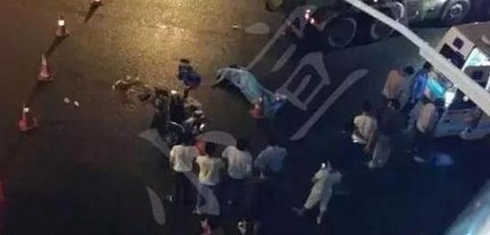 闵行一土方车碾压电瓶车致1死2伤(图)