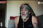 英56岁男子酷爱身体改造将眼球染成红蓝色
