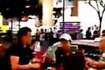 实拍内地男不满日本醉汉插队 2人香港街头扭打