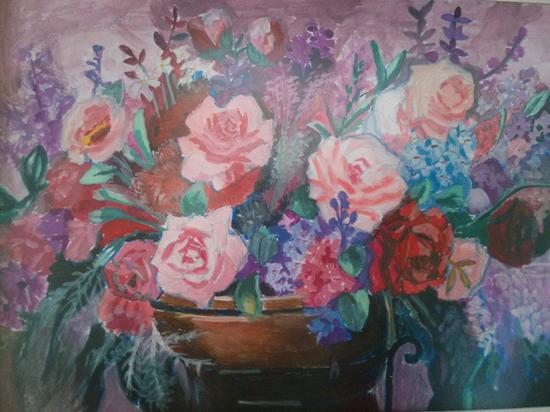 水桶彩绘画图片