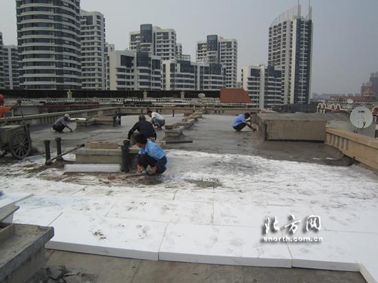 楼顶改造现场