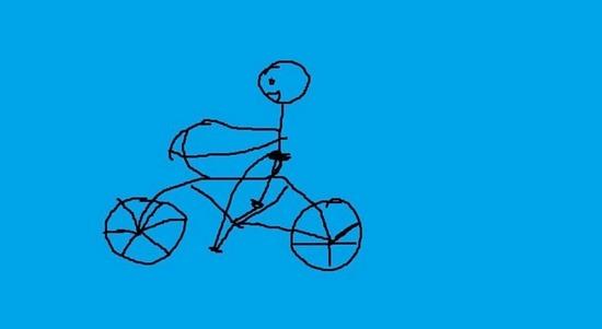 骑着自行车上班