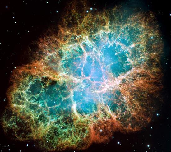 天关客星爆发留下的蟹状星云