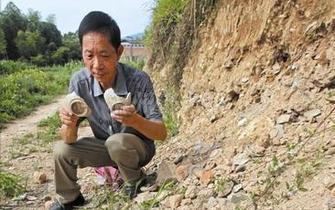 温州挖山拓路明代碗窑遗址部分坍塌