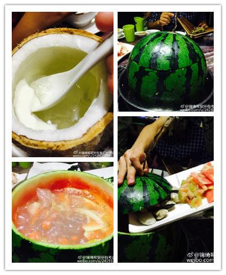 【果道热带水果主题餐厅】推出奇葩的西瓜火锅