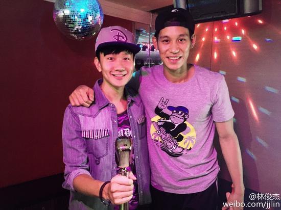 林俊杰和林书豪K歌