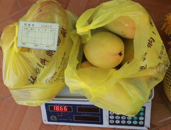 到工商所称只有18.66斤。