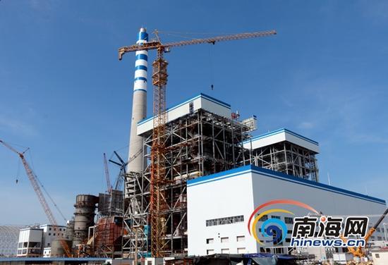 海南西南部电厂预计7月5日试发电。(南海网记者邓松摄)