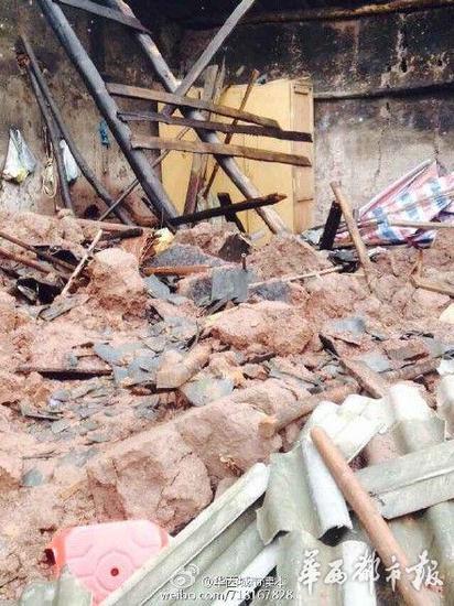 喜事变丧事 宜宾一农房倒塌致两死七伤