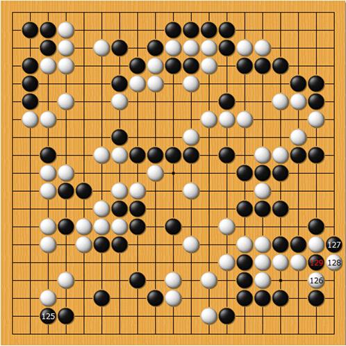 冒险岛非酋乐谱-第二十五谱(125-129)   黑125爬是全局最后的大官子,此时片冈聪也