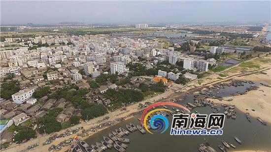 2015年7月4日,海口新海村,码头建设一片繁忙。本报记者张杰摄
